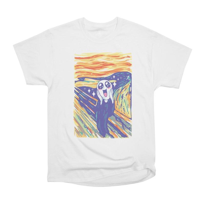 Kawaii Scream Men's Heavyweight T-Shirt by Vincent Trinidad