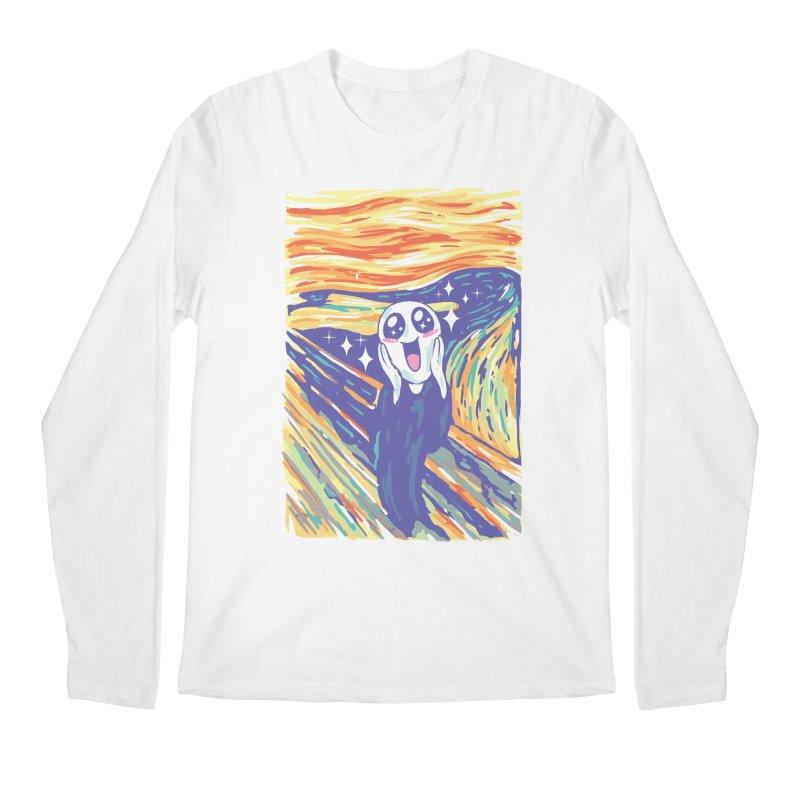 Kawaii Scream Men's Regular Longsleeve T-Shirt by Vincent Trinidad