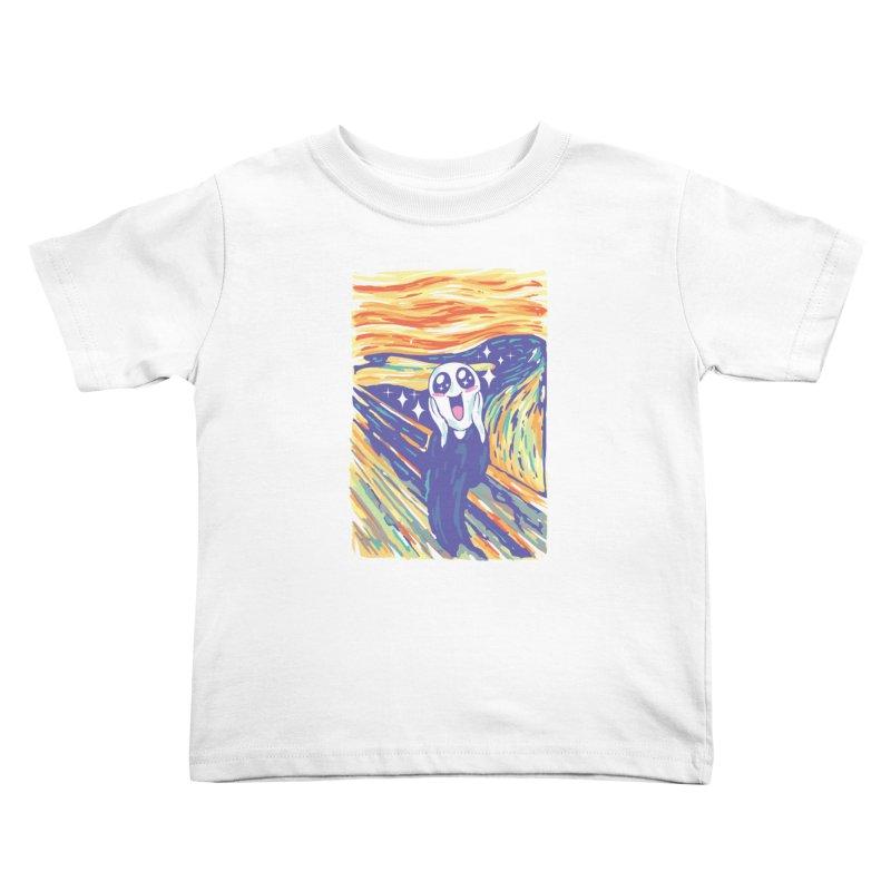 Kawaii Scream Kids Toddler T-Shirt by Vincent Trinidad