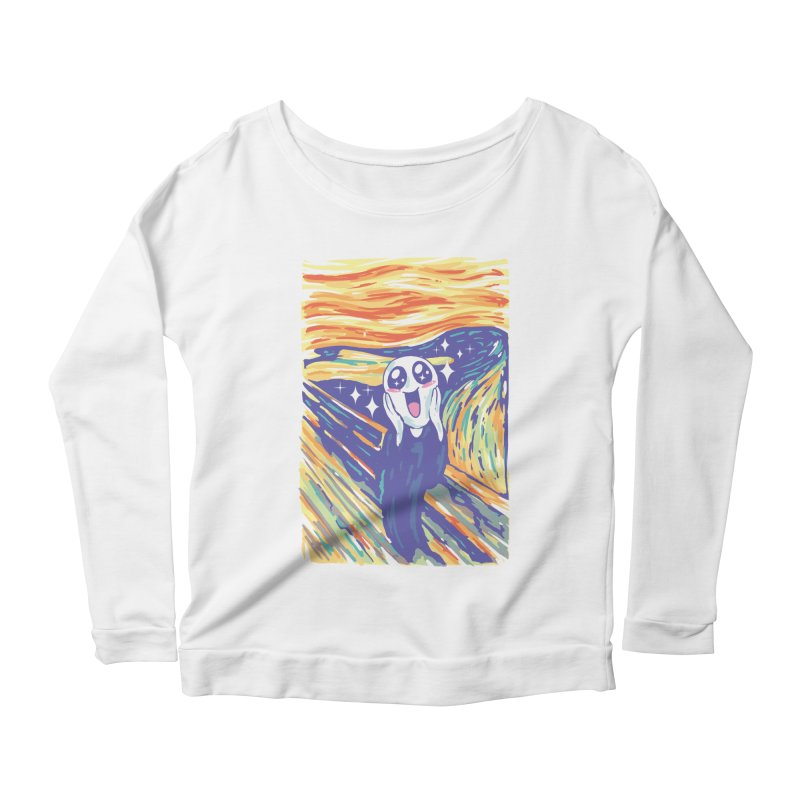 Kawaii Scream Women's Scoop Neck Longsleeve T-Shirt by Vincent Trinidad
