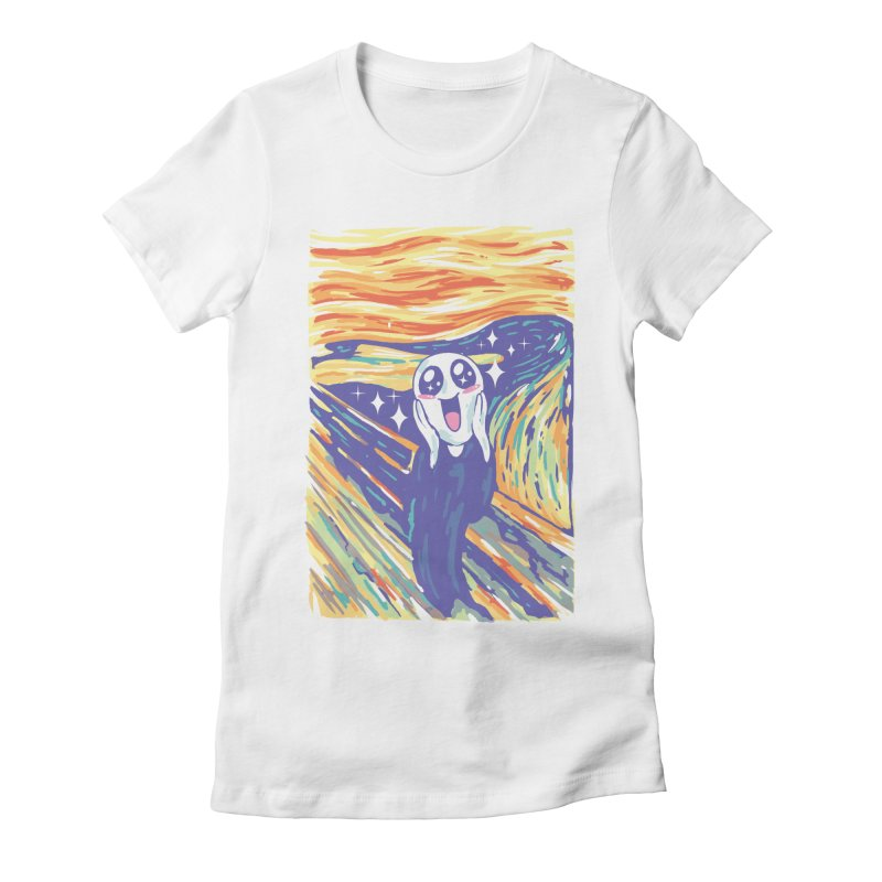 Kawaii Scream Women's Fitted T-Shirt by Vincent Trinidad