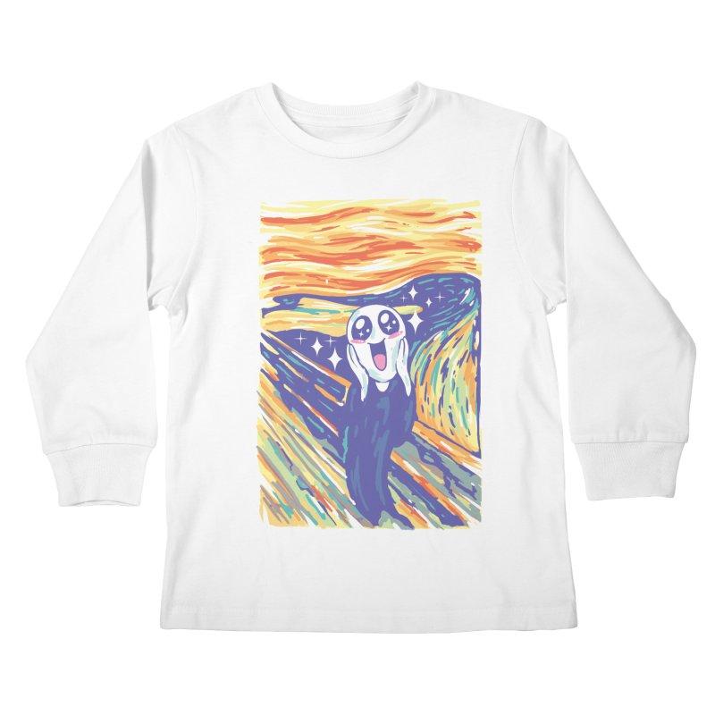 Kawaii Scream Kids Longsleeve T-Shirt by Vincent Trinidad