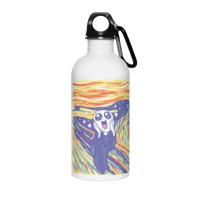 Kawaii Scream Accessories Water Bottle by Vincent Trinidad
