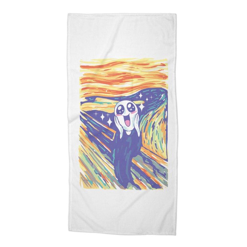 Kawaii Scream Accessories Beach Towel by Vincent Trinidad
