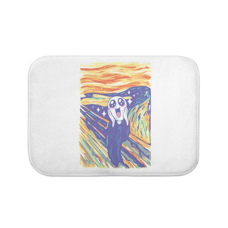 Kawaii Scream Home Bath Mat by Vincent Trinidad
