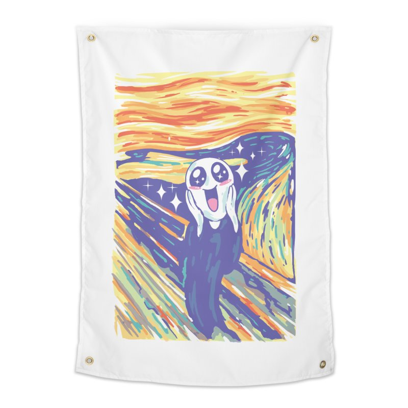 Kawaii Scream Home Tapestry by Vincent Trinidad