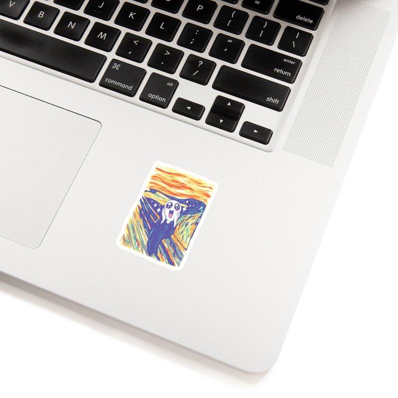 Kawaii Scream Accessories Sticker by Vincent Trinidad