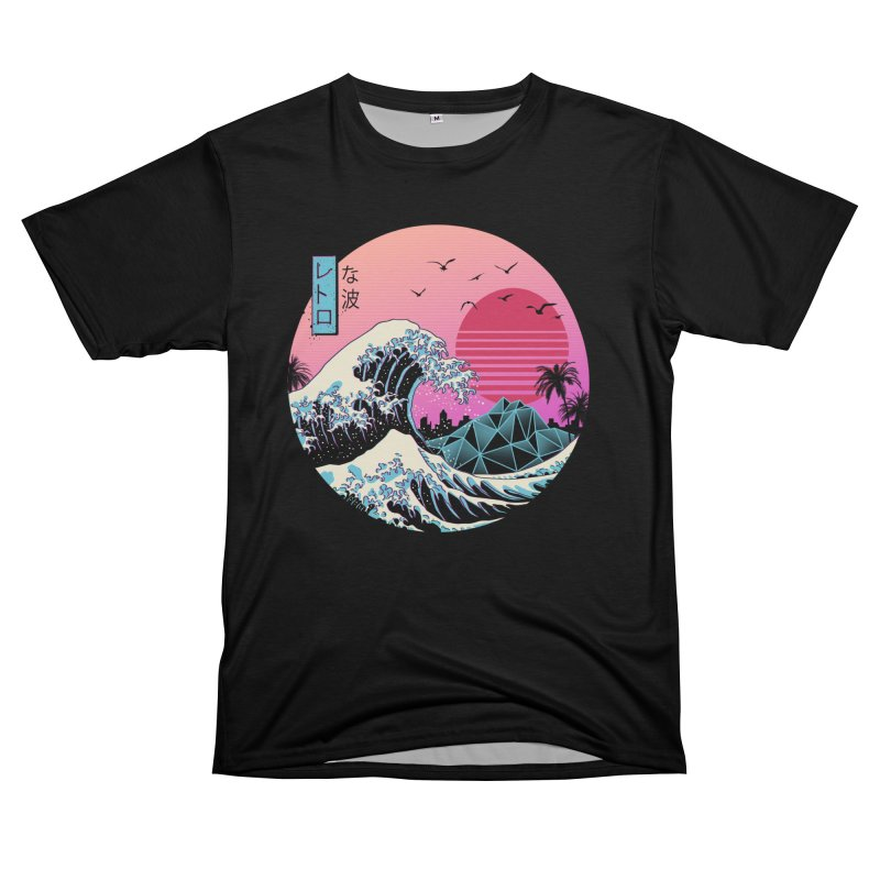 The Great Retro Wave Women's Cut & Sew by Vincent Trinidad Art