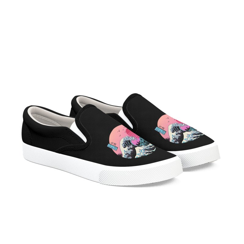 The Great Retro Wave Women's Shoes by Vincent Trinidad Art