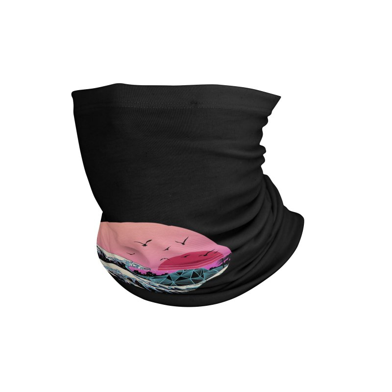 The Great Retro Wave Accessories Neck Gaiter by Vincent Trinidad Art