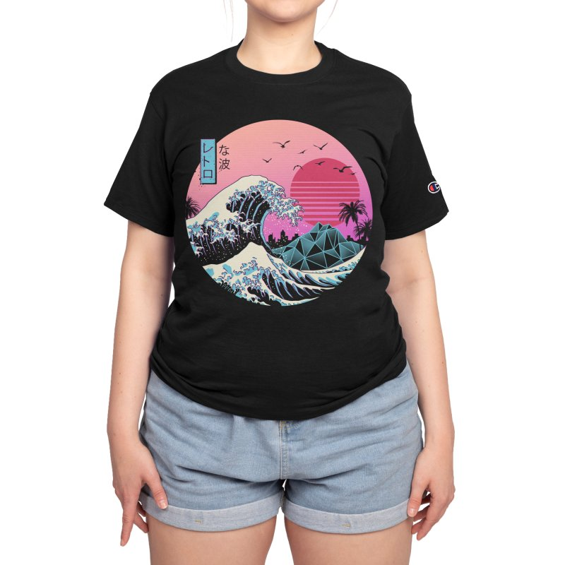 The Great Retro Wave Women's T-Shirt by Vincent Trinidad Art
