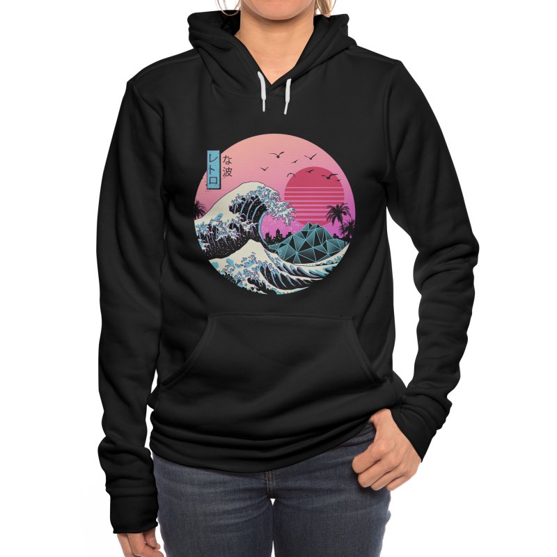 The Great Retro Wave Women's Pullover Hoody by Vincent Trinidad Art
