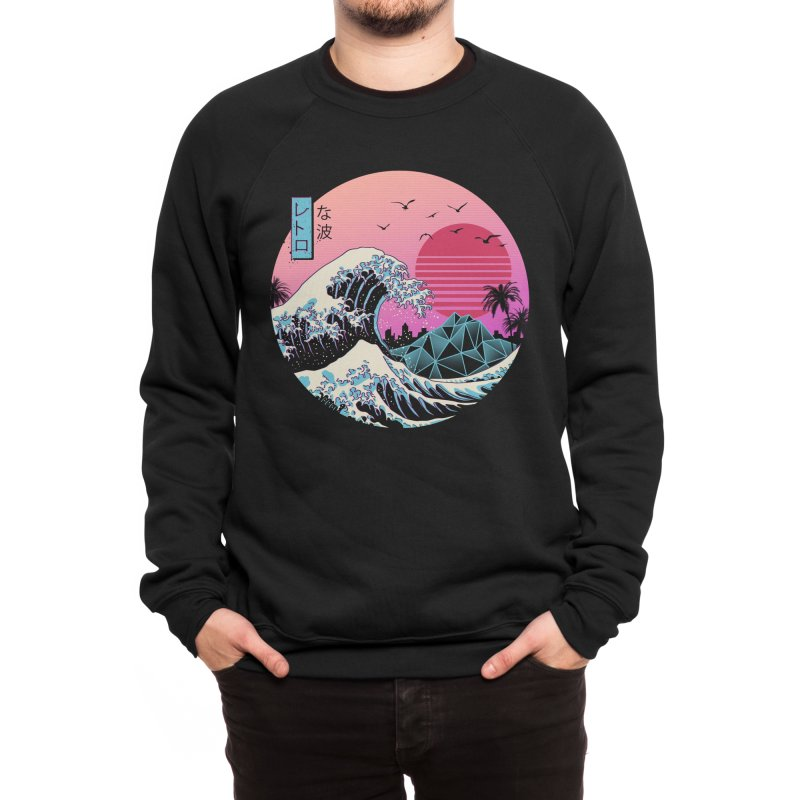 The Great Retro Wave Men's Sweatshirt by Vincent Trinidad Art