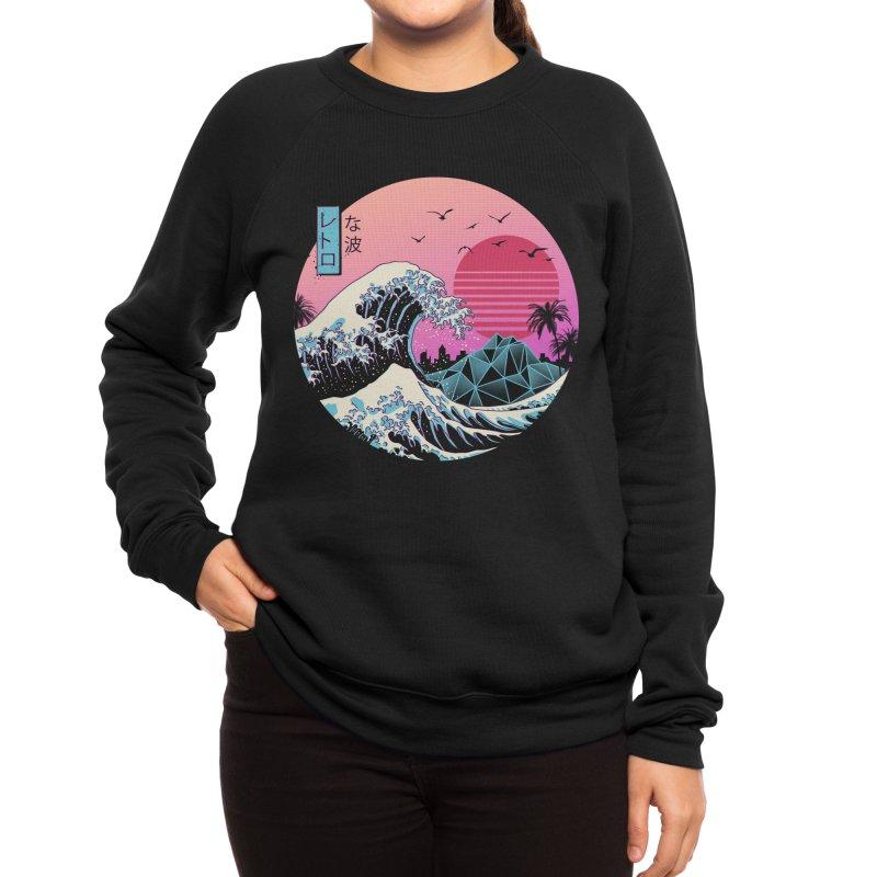 The Great Retro Wave Women's Sweatshirt by Vincent Trinidad Art