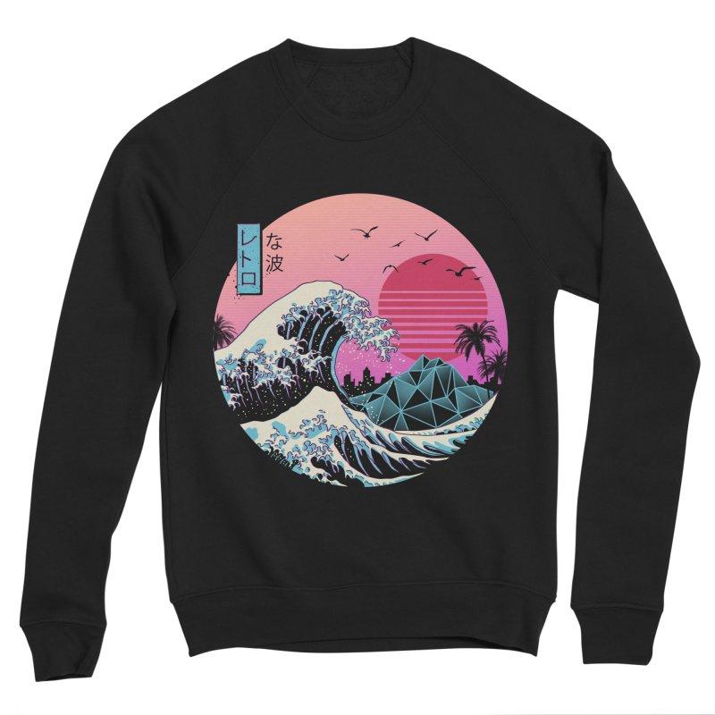 The Great Retro Wave Men's Sponge Fleece Sweatshirt by Vincent Trinidad