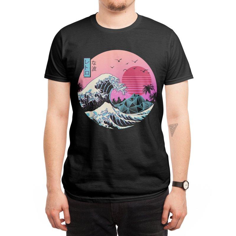 The Great Retro Wave Men's T-Shirt by Vincent Trinidad Art