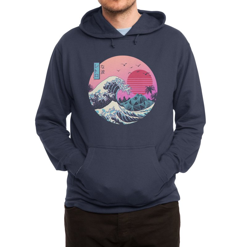 The Great Retro Wave Men's Pullover Hoody by Vincent Trinidad Art