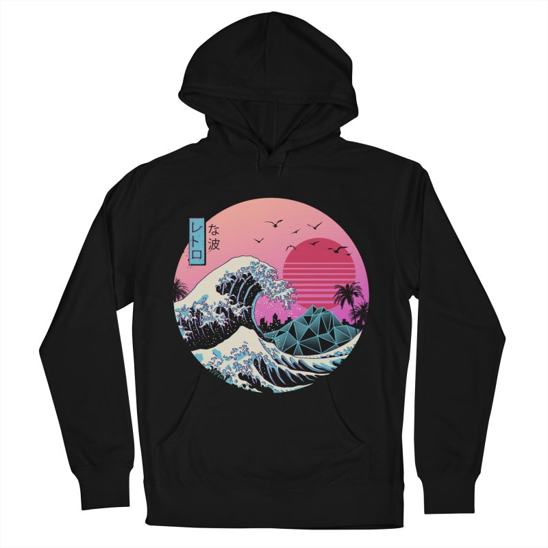 The Great Retro Wave Women's French Terry Pullover Hoody by Vincent Trinidad