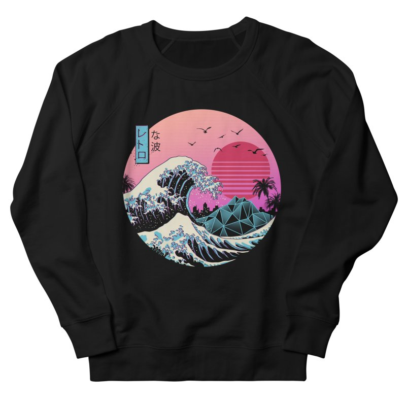 The Great Retro Wave Women's French Terry Sweatshirt by Vincent Trinidad