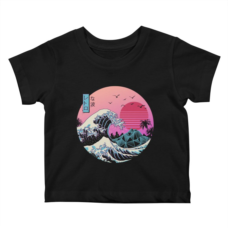 The Great Retro Wave Kids Baby T-Shirt by Vincent Trinidad Art
