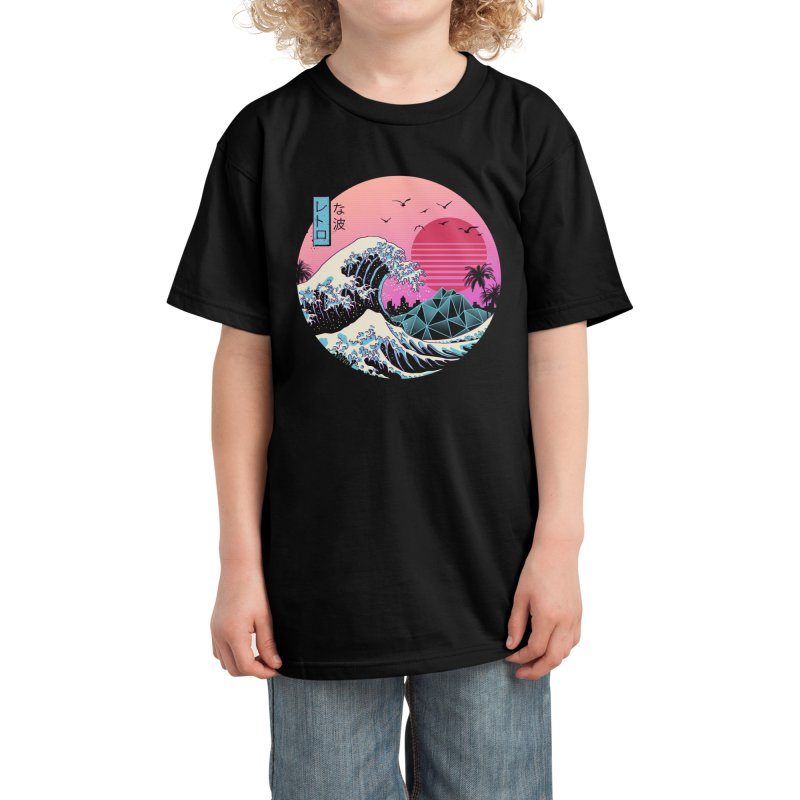 The Great Retro Wave Kids T-Shirt by Vincent Trinidad Art