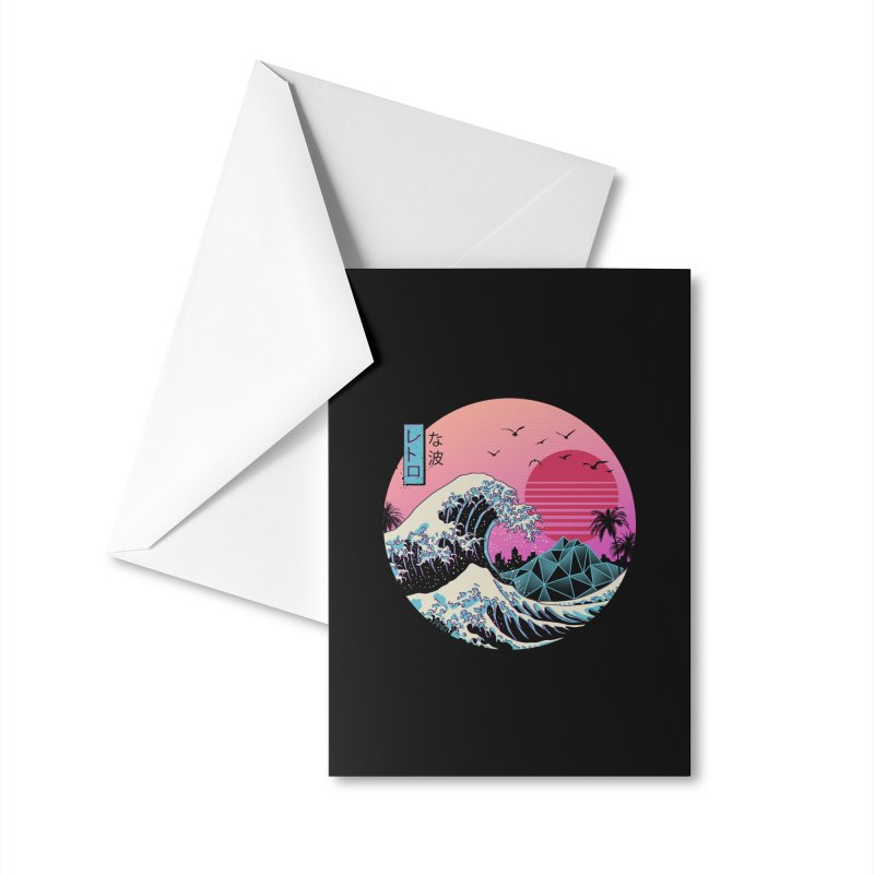 The Great Retro Wave Accessories Greeting Card by Vincent Trinidad Art