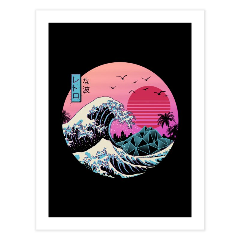 The Great Retro Wave Home Fine Art Print by Vincent Trinidad Art