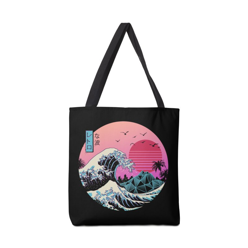 The Great Retro Wave Accessories Bag by Vincent Trinidad Art