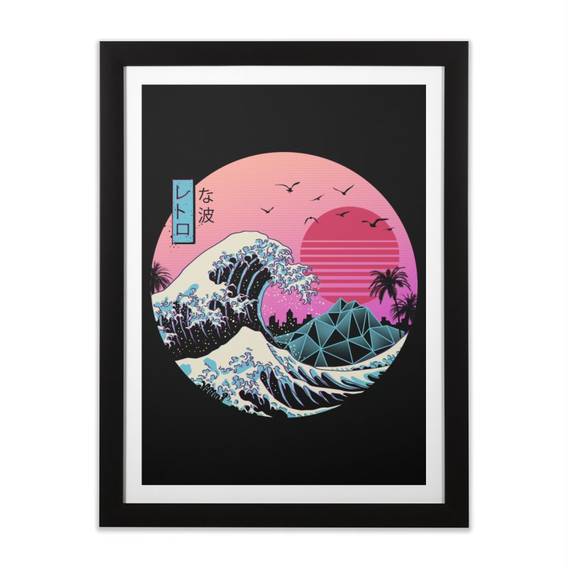 The Great Retro Wave Home Framed Fine Art Print by Vincent Trinidad Art