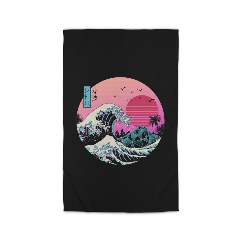 The Great Retro Wave Home Rug by Vincent Trinidad Art