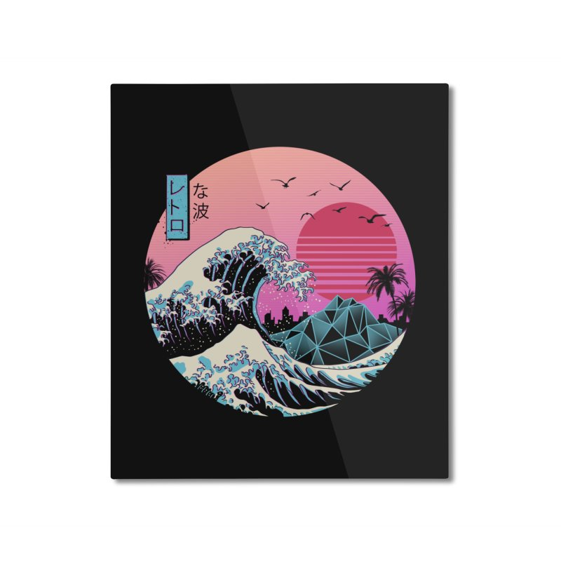 The Great Retro Wave Home Mounted Aluminum Print by Vincent Trinidad Art
