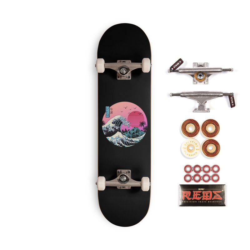 The Great Retro Wave Accessories Skateboard by Vincent Trinidad Art