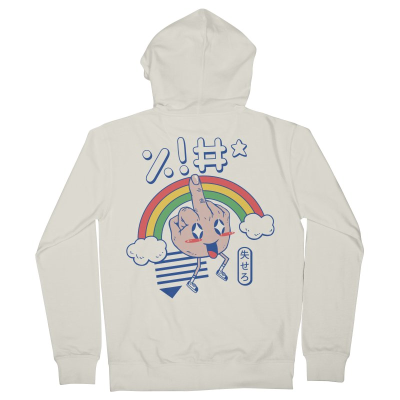 Kawaii as F*ck! Men's French Terry Zip-Up Hoody by Vincent Trinidad Art