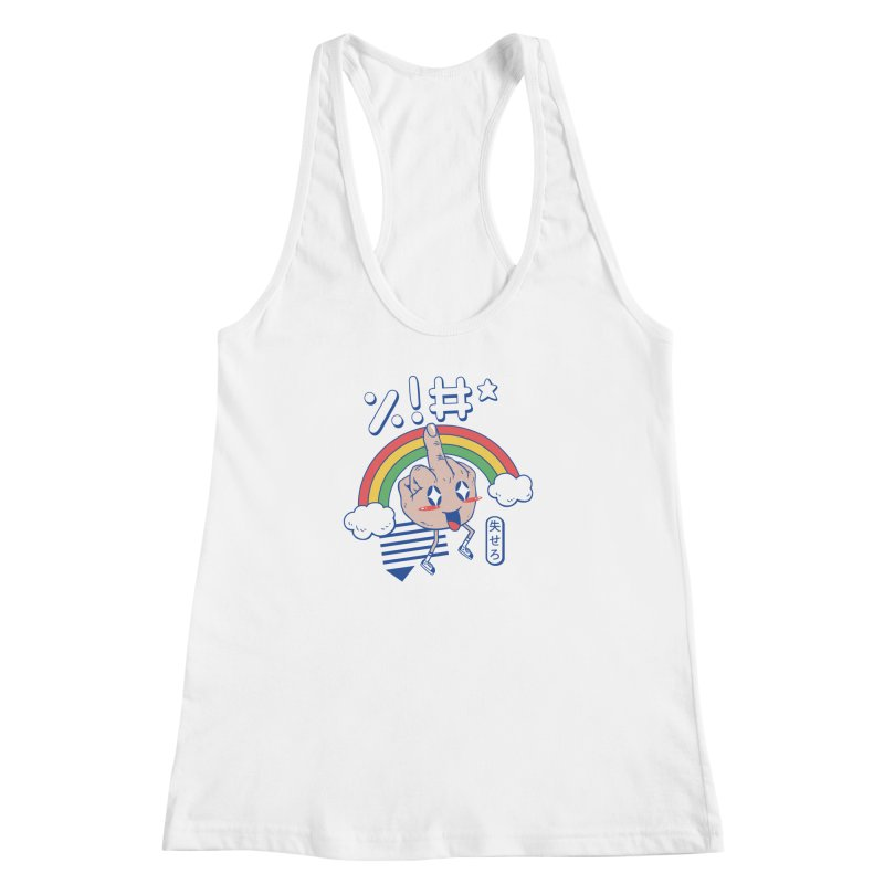 Kawaii as F*ck! Women's Racerback Tank by Vincent Trinidad
