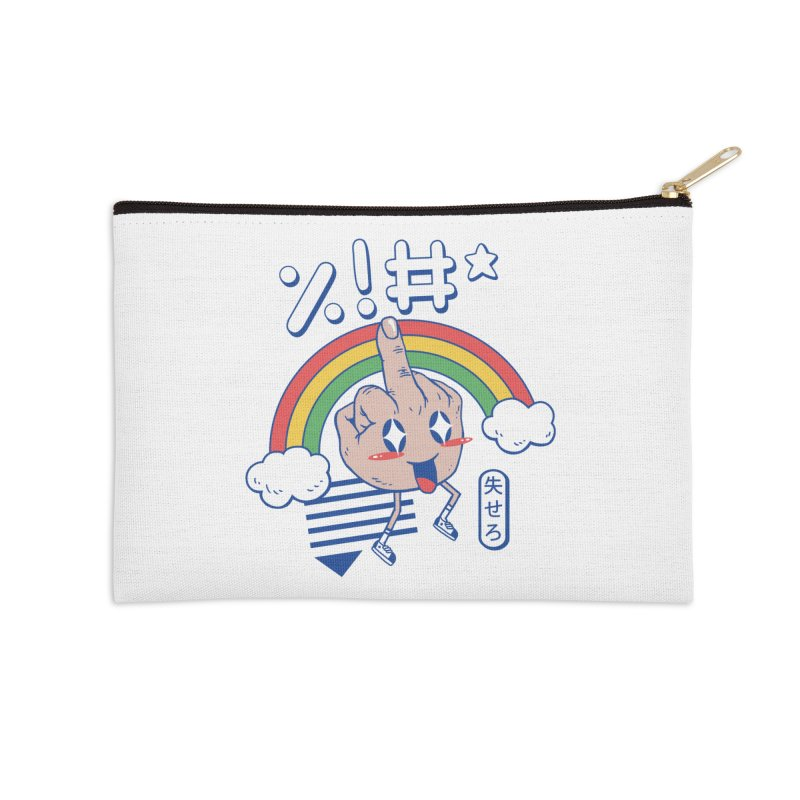 Kawaii as F*ck! Accessories Zip Pouch by Vincent Trinidad