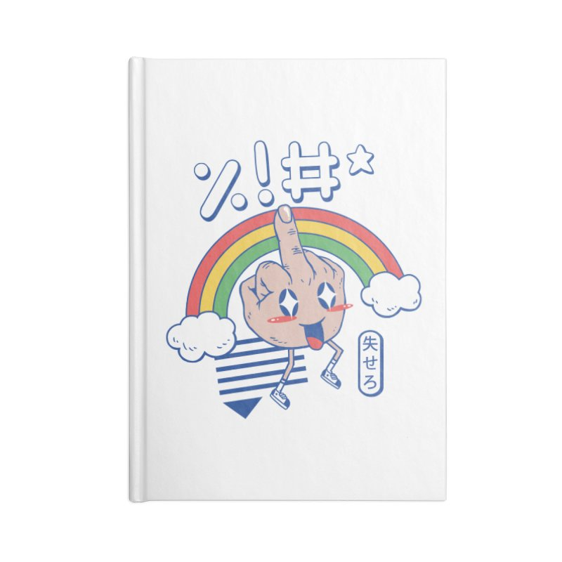 Kawaii as F*ck! Accessories Blank Journal Notebook by Vincent Trinidad