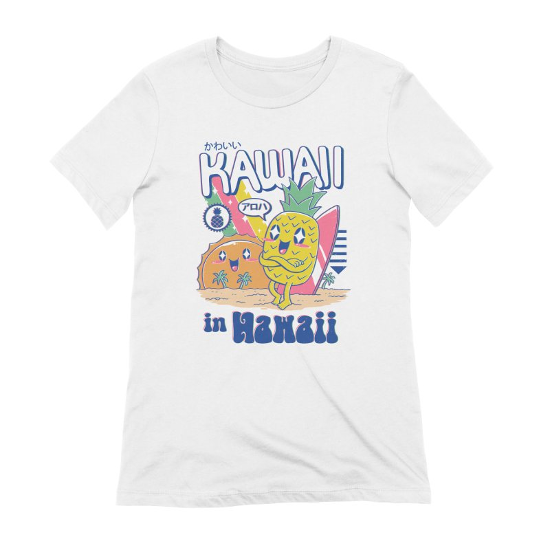 Kawaii in Hawaii Women's Extra Soft T-Shirt by Vincent Trinidad Art