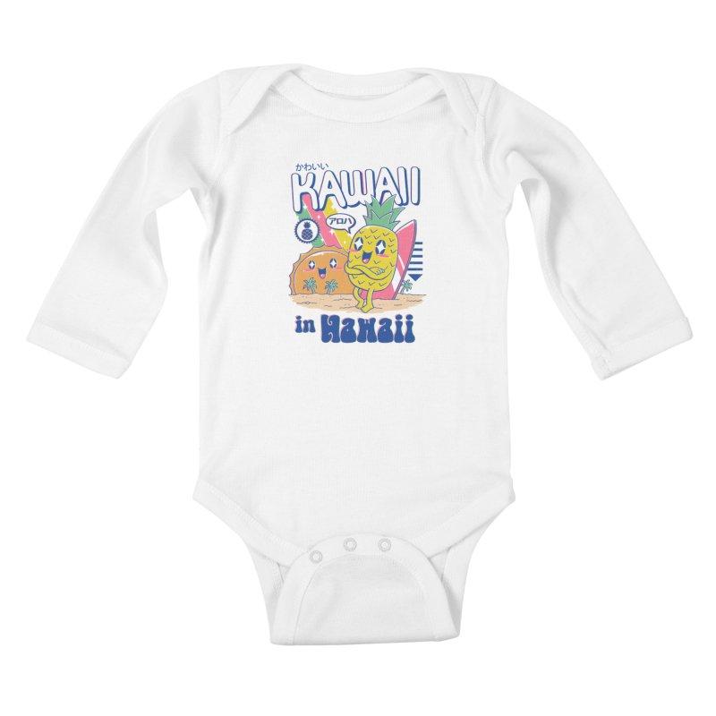 Kawaii in Hawaii Kids Baby Longsleeve Bodysuit by Vincent Trinidad