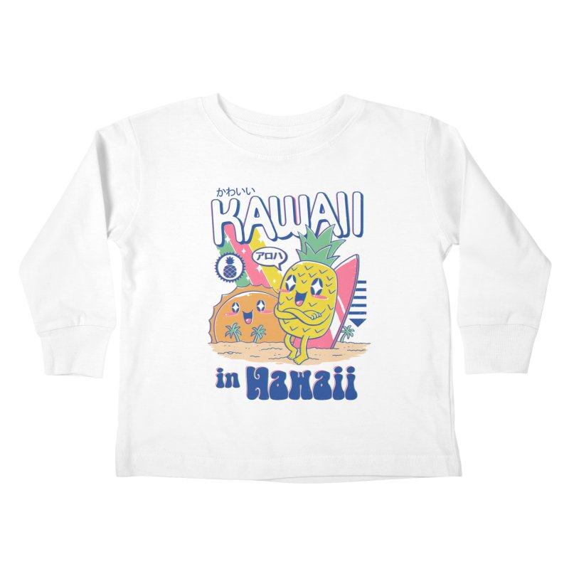 Kawaii in Hawaii Kids Toddler Longsleeve T-Shirt by Vincent Trinidad
