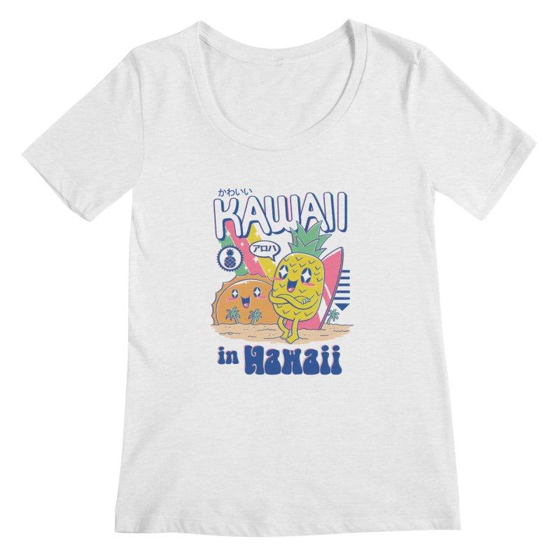 Kawaii in Hawaii Women's Regular Scoop Neck by Vincent Trinidad