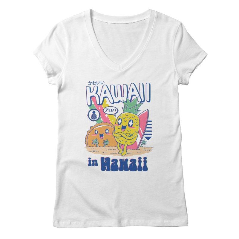 Kawaii in Hawaii Women's Regular V-Neck by Vincent Trinidad