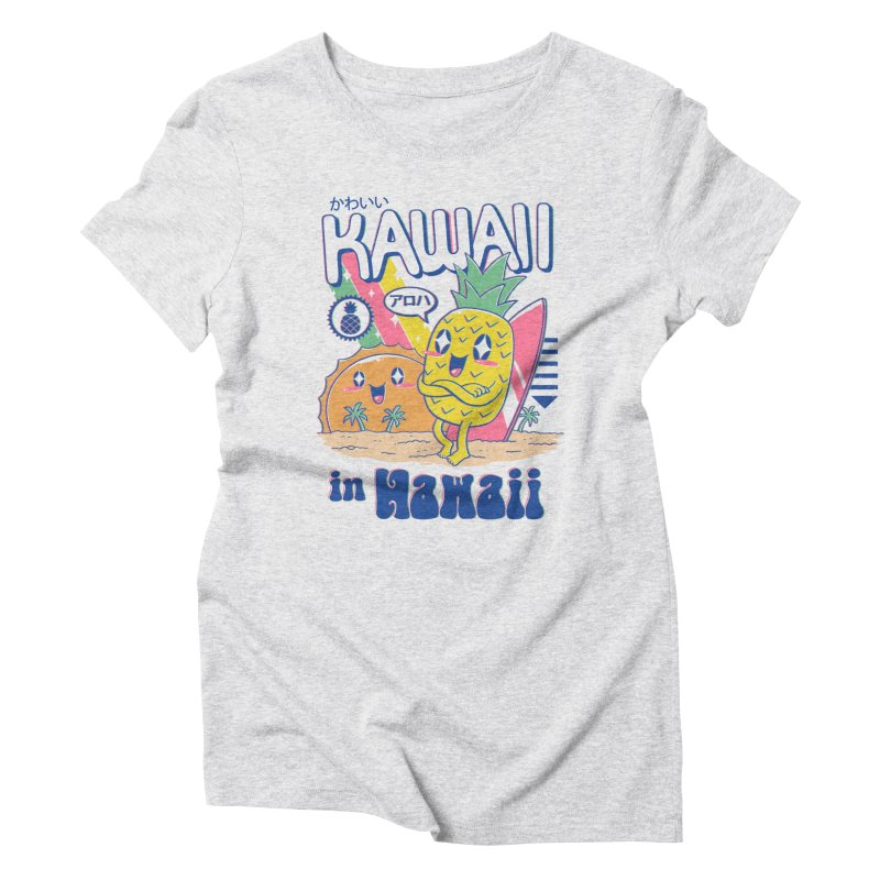 Kawaii in Hawaii Women's Triblend T-Shirt by Vincent Trinidad