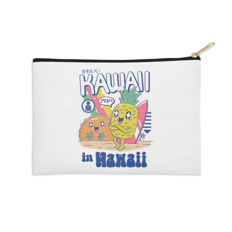 Kawaii in Hawaii Accessories Zip Pouch by Vincent Trinidad