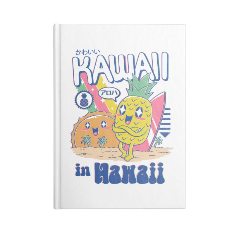 Kawaii in Hawaii Accessories Blank Journal Notebook by Vincent Trinidad