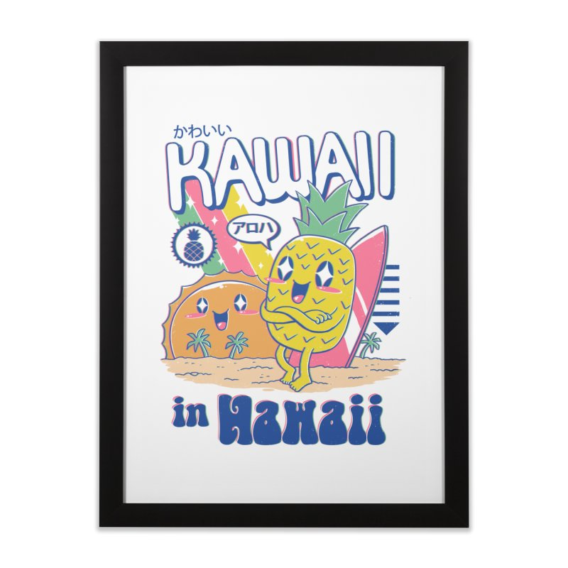 Kawaii in Hawaii Home Framed Fine Art Print by Vincent Trinidad