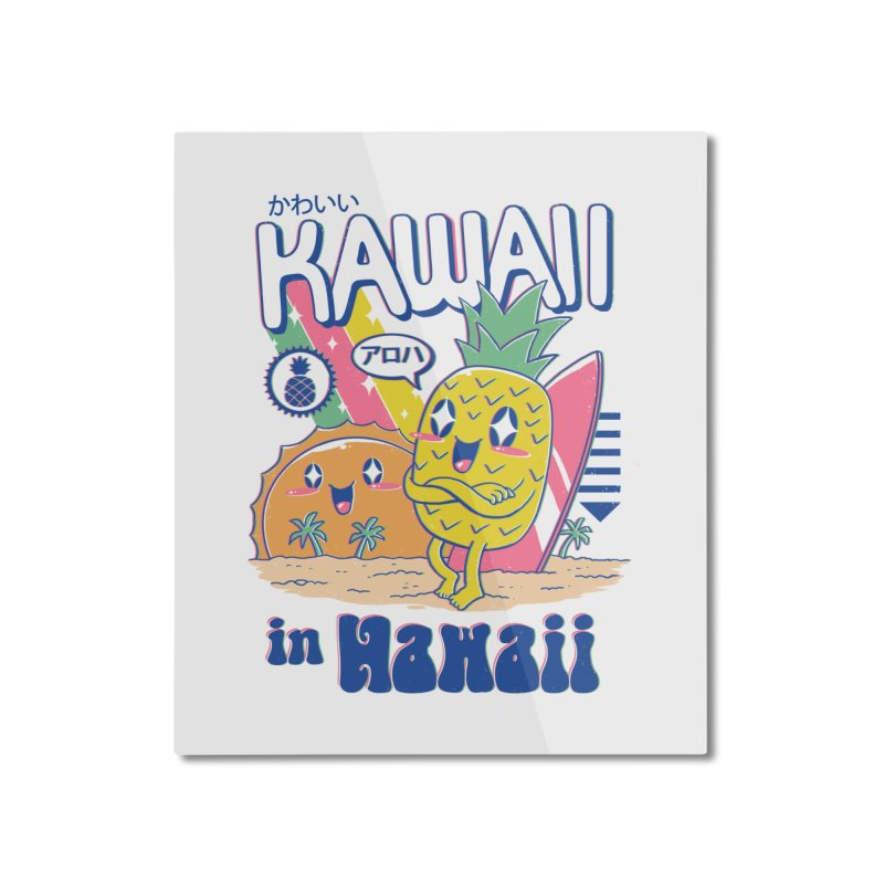 Kawaii in Hawaii Home Mounted Aluminum Print by Vincent Trinidad