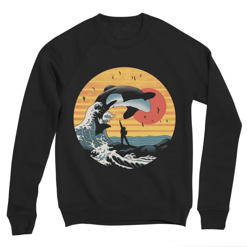 The Great Killer Whale Men's Sponge Fleece Sweatshirt by Vincent Trinidad