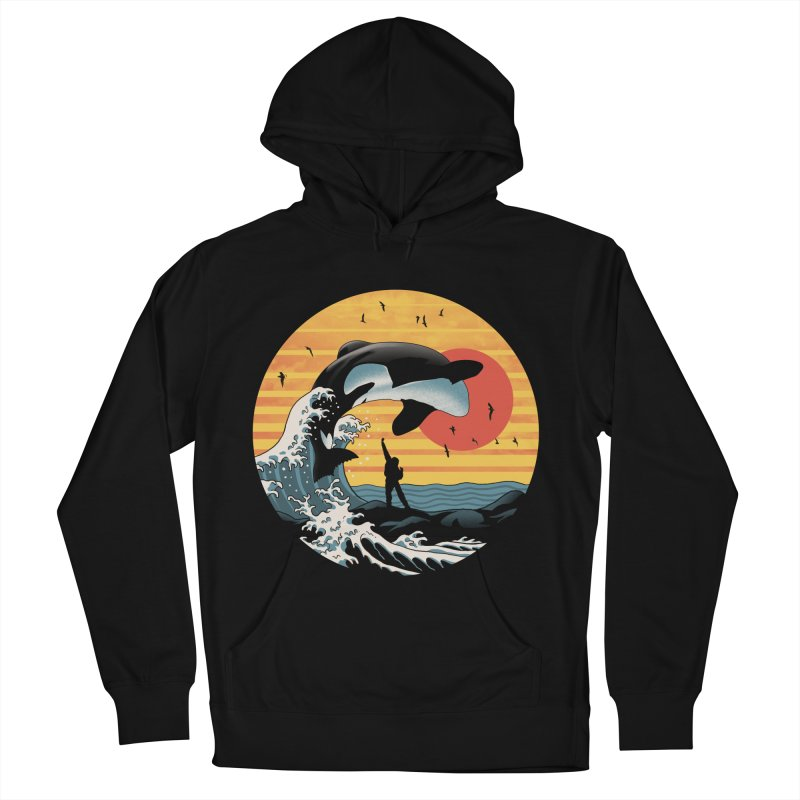 The Great Killer Whale Women's French Terry Pullover Hoody by Vincent Trinidad