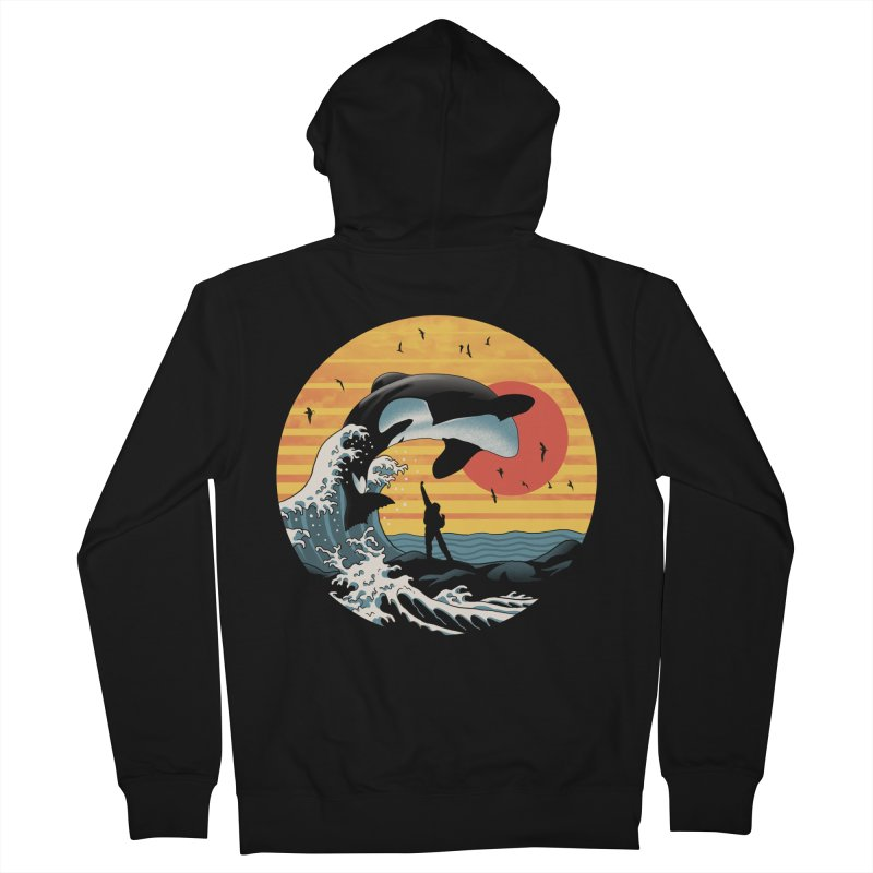 The Great Killer Whale Men's French Terry Zip-Up Hoody by Vincent Trinidad