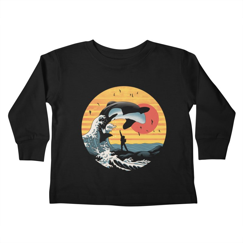 The Great Killer Whale Kids Toddler Longsleeve T-Shirt by Vincent Trinidad